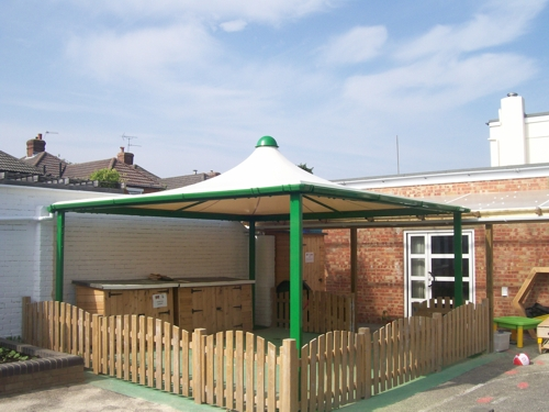 Boscombe Children's Centre, Dorset - Codale Conic - Able Canopies