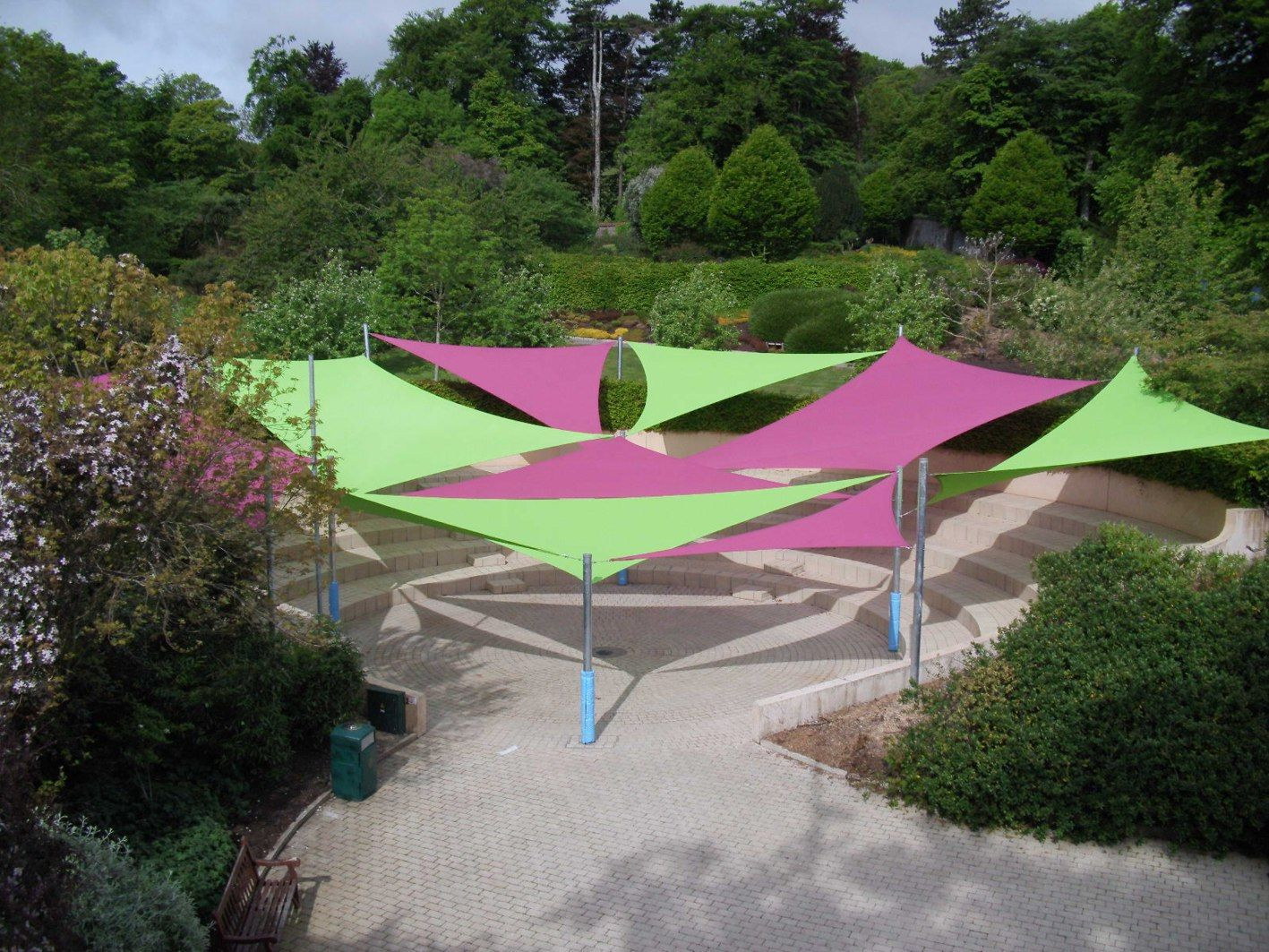 Shade sails perfect for outdoor performances able canopies for Colorado shade sail
