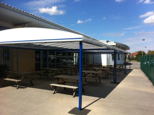 Outdoor Covered Dining Area For Academies