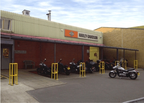Warr's Harley-Davidson Dealership - Coniston Wall Mounted Canopy