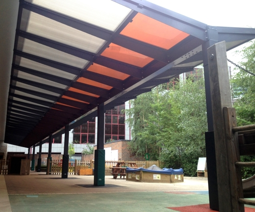 The Kensington Dual Pitch canopy with Ascot Solar Upgrade - Able Canopies Ltd.