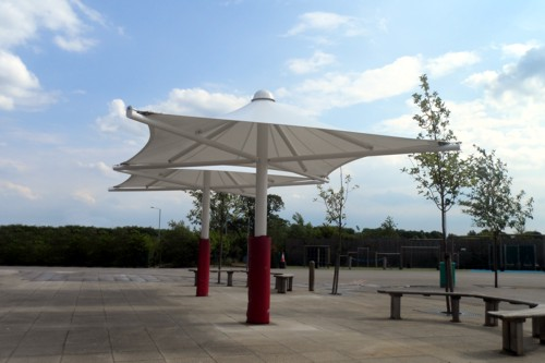 Great Dunmow Primary School, Essex - Ulverstno Umbrella - Able Canopies