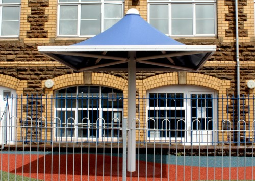 Plasnewydd Primary School, South Wales - Dallington Umbrella - Able Canopies