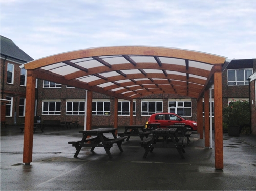 3 Tarnhow Dome Free Standing Canopies - Carshalton High School for Girls in Surrey