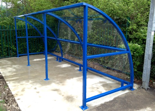 The Easydale Buggy Shelter installed at the Princess Plain Clinic in Kent