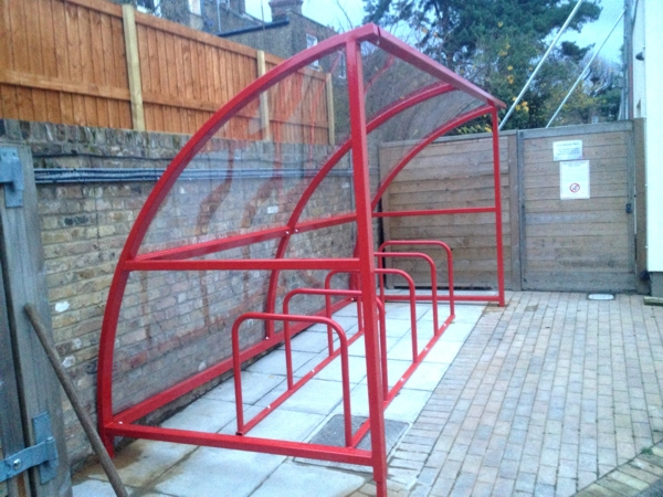 Easydale Cycle Shelter installed at St Quintin Centre for Disabled Children & Young People in London