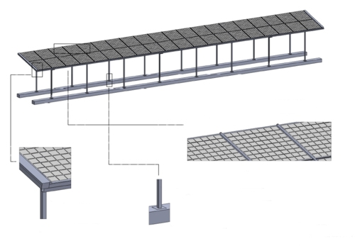 Capel Manor Primary School, Bespoke Solar Canopy - Able Canopies Drawings