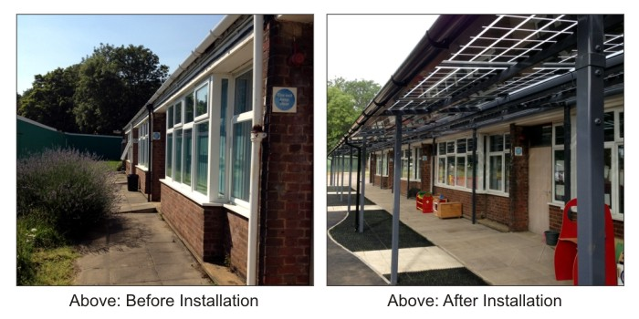 Solar Canopy - Capel Manor Primary School, Enfield Middlesex