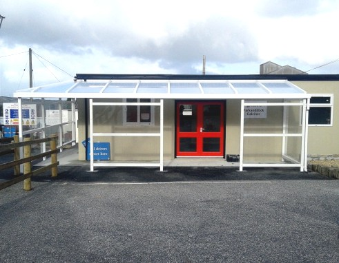 Imerys Minerals Ltd. in Cornwall - Coniston Wall Mounted Canopy with Side Fills