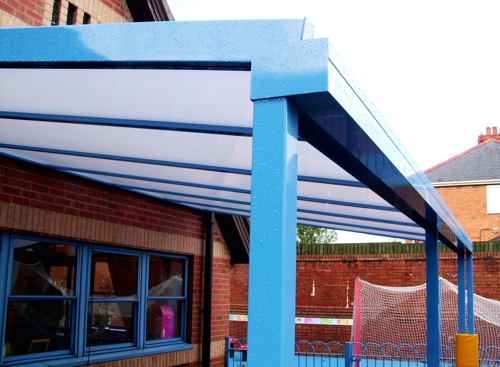 The Coniston Wall Mounted Canopy with 35mm Structured Polycarbonate Roof Panels