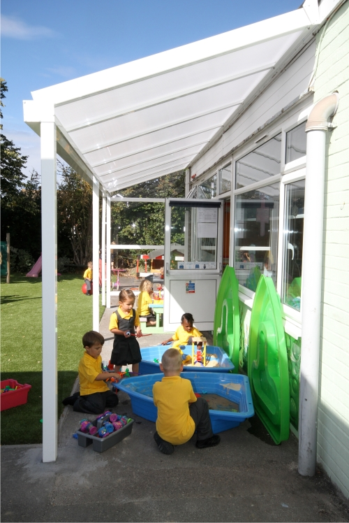 Wall Mounted Canopy at St Peter's Catholic Primary School, Kent