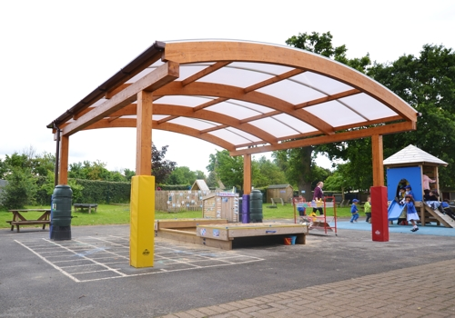 Tarnhow Canopy Installed at Wexham Court Primary School
