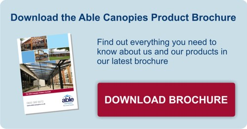 Download our canopy shelter and shade sail brochure