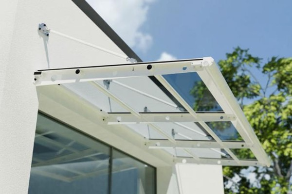 Product Launch u2013 The Beck Entrance Canopy & cantilever canopy | Able Canopies