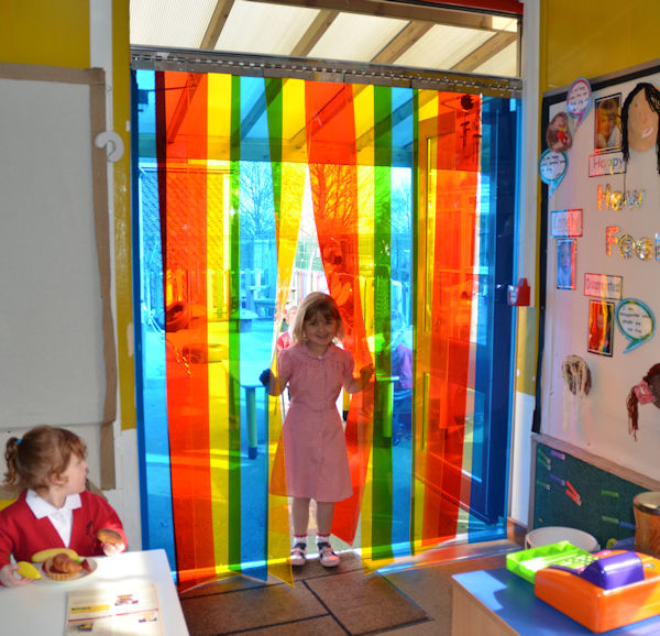 Check Out Our New Pvc Rainbow Curtains For Your Canopy