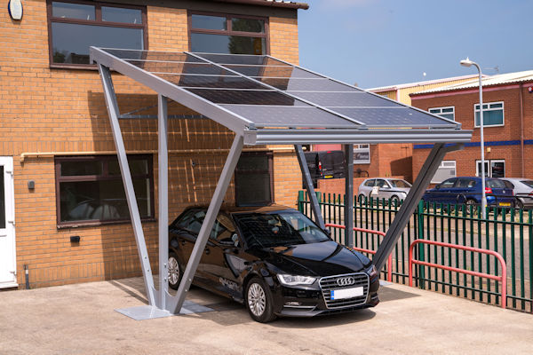 Small Solar Carports : Head office expansion for able canopies the canopy
