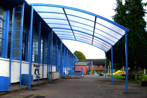 St Peter's Church in Wales Primary School - After Canopy Installation