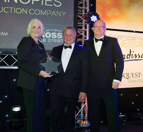 Essex Business Awards Winners - B2B Company of the Year - Able Canopies Ltd.