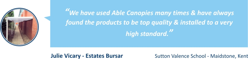 School Canopy Testimonial - Able Canopies Ltd.
