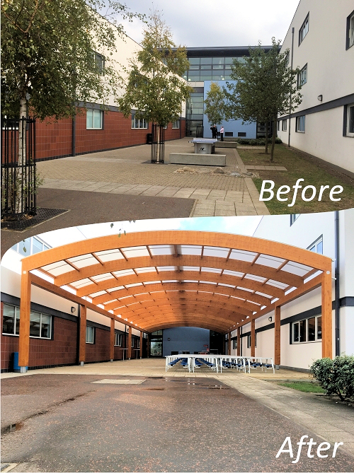 School Canopy Transformation - Able Canopies Ltd.