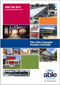 Able Canopies Brochure - Canopies, Shade Sails, Shelters, Awnings & More