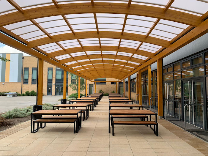 Eastbrook Primary School Dagenham Timber Canopies