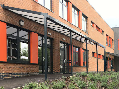 Murray Park Community School Wall Mounted Canopies