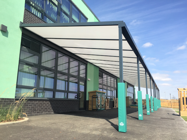 Poplars Primary School Wall Mounted Canopy
