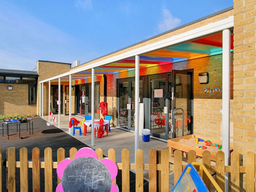Selwyn Primary School Colorful Wall Mounted Canopies