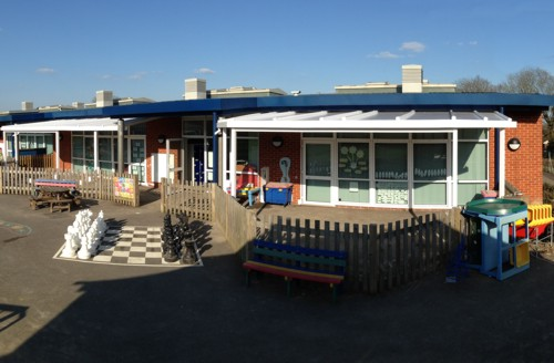 School Canopies | School Canopy installed at Birchwood Grove CP School