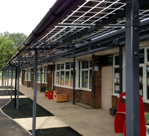 Capel Manor Primary School - After Installation - Solar Canopy