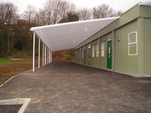 Wall Mounted Canopy - Foxwood Primary School