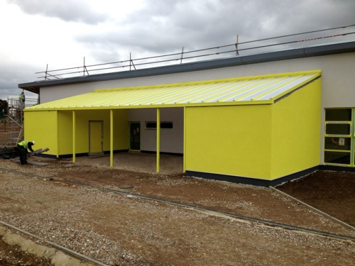Repton Manor Primary School - After Wall Mounted Canopy Installation