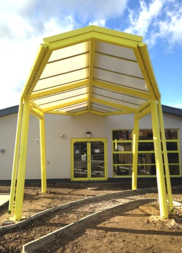 8.4m x 3.8m Bespoke Canopy Installed at Repton Manor Primary School