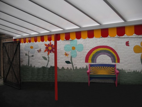 Wall Mounted Canopy - Step by Step Children's Centre