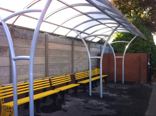 The Langdale Waiting Shelter installed at Brentside Primary School in London