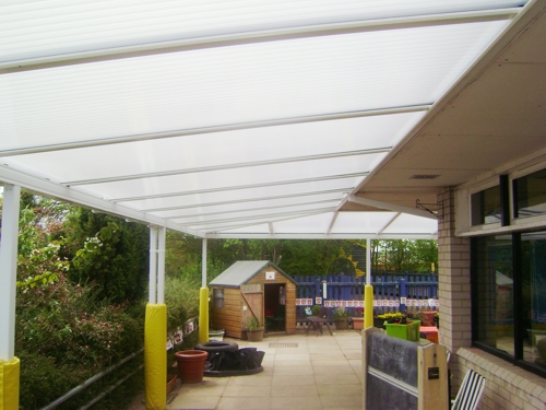Coupals Primary School, Suffolk - 4 Wall Mounted Canopies