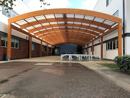 Jo Richardson Community School, East London - Large Domed Timber Canopy