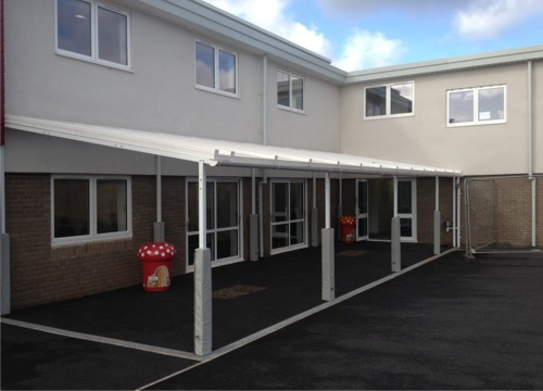 Free Standing Canopy installed at Preston Primary School in Devon