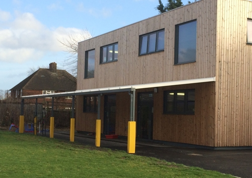 Roding Primary School, Essex - Wall Mounted Canopy