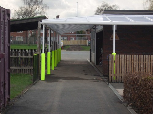Wall Mounted Canopy Installed at St Nicholas Catholic Primary School