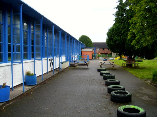 St Peter's Church in Wales Primary School - Before Canopy Installation