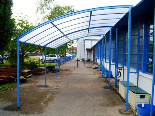St Peter's Church in Wales Primary School - Free Standing Canopy Installation
