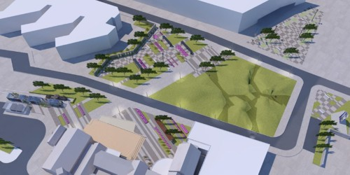 The Architects design of the Station Square area of The Works