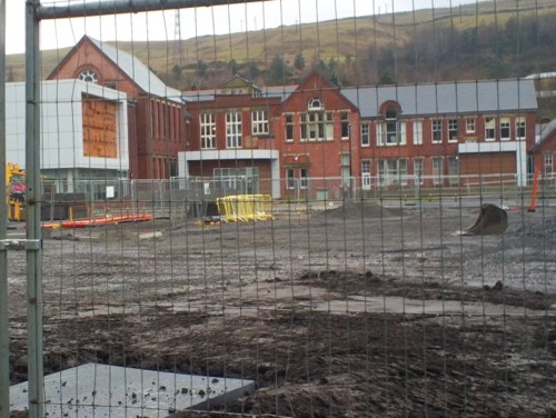 Before Waiting Shelter Installation at Station Square, The Works - Ebbw Vale, South Wales