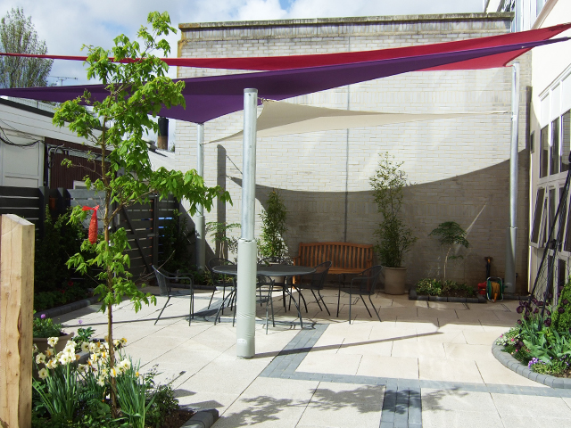 The Kent and Canterbury Hospital - Shade Sail - Able Canopies Ltd.