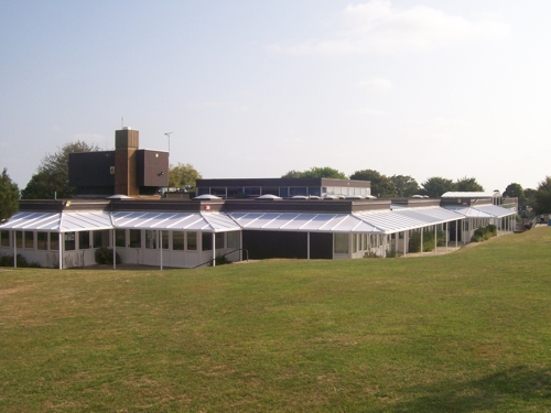 The Downs CE Primary School - Wall Mounted Canopy