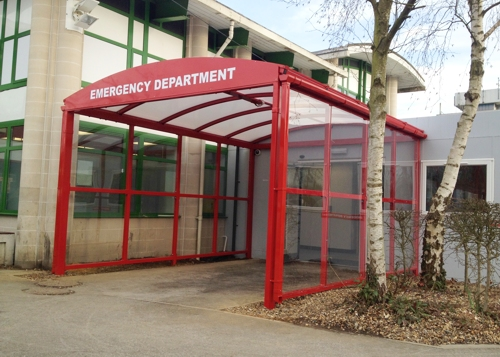 Wexham Hospital, Berkshire - Entrance Canopy - Able Canopies Ltd.