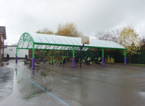 White Spire School, Buckinghamshire - After Free Standing Canopy Installation
