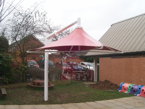 School Umbrella Canopy - Cantilevered